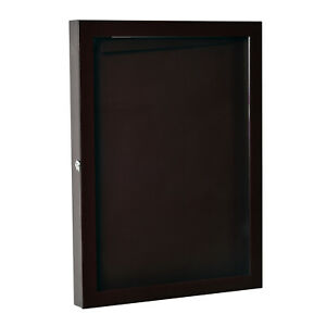 "31.5"" Lockable Jersey Display Case Shadow Box Frame Football Baseball Basketball"