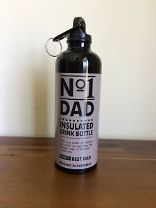 No 1/Best Dad Metal Drink Bottle Fathers Day Gift