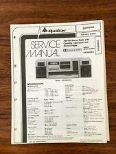 QUASER / PANASONIC GX3694XQ RADIO CASSETTE Service Manual *Original*