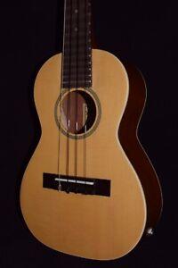 Hula Ukes Solid Spruce Top Mahogany Back Concert 4 String Ukulele with Pick Up