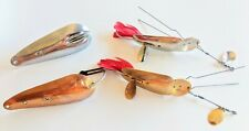 Lot Of 4 Vintage Heddon King Stanley & No Name Fishing Spoons / Lures