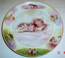 Lovely Bradford Exchange Cat Collectors Plate PLAYFUL DREAMS - PAWS IN ACTION