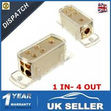 Power Distribution Block Car Audio 3 Way Fuse Holder Circuit Protector Willkey