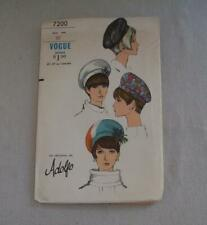 Vintage Womens Sewing Pattern Hat 60's Vogue 7200 Adolfo