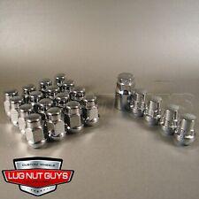 Lug Nuts & Locking Lugs - Bulge Acorn 1/2 Chrome - 1/2-20 Install Kit For 5 Lug