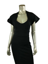 Pinup Couture S Black Dress Stretch Bodycon Fitted Vamp Cocktail Shrug Top