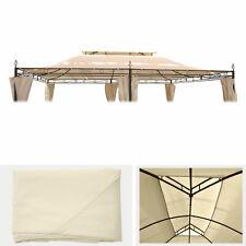 Ersatzdach für Pergola Mecina 4x3m, Dach Bezug Sonnenschutz, creme