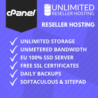 1 Year Unlimited Reseller Hosting, cPanel & WHM, Free SSL, Domains, B/W, SitePad