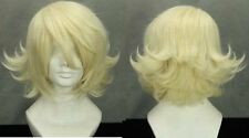 TIGER  BUNNY Light Yellow Anime Cosplay Wig + Gift Wigs Cap