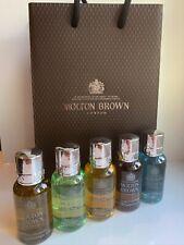 Molton Brown Men's Body Wash / Shower Gel Gift Set (5 x 30ml) Bottles - NEW