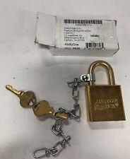 American Lock Skilcraft Solid Steel Case Padlocks Withchain 5881010