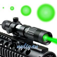 Zoomable Designator/Illuminator Green Laser Flashlight W/Mount&charger For Hunt