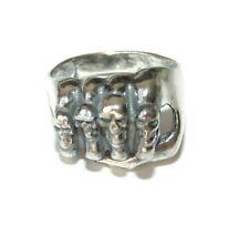 925 Men's Sterling Silver Ring Skull Rocker Biker Hand Fist Skeleton Pinky 9.5