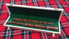 Profesional D Flauta De Palo De Rosa Acabado Natural + Rígida De Madera case/d Flauta De Palo De Rosa