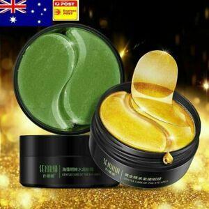60Pcs Gold Crystal Collagen Gold Anti-Wrinkle Dark Circle Gel Under Eye Pad Mask