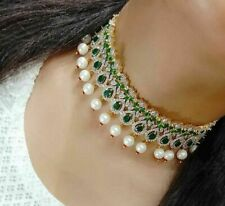 American Diamond Indian Bollywood  Necklace Set With Earring