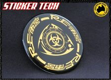 RE AMEMIYA ROTARY GOLD AND BLACK BADGE STICKER DECAL EMBLEM RX7 RX3 RX8 13B CX5
