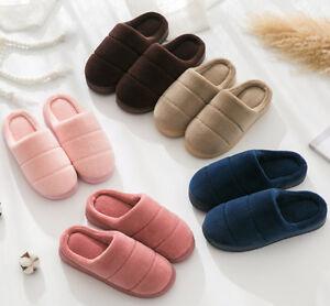 Winter Women Men Plush Slipper Home Floor Indoor Sandal Mule Flip Flop Soft US