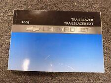 2003 Chevy Trailblazer & EXT SUV Owner Manual User Guide LS LT LTZ 4WD 4.2L