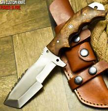 SFK CUTLERY CUSTOM HANDMADE FIXED BLADE D2 TOOL STEEL ART HUNTING TRACKER KNIFE