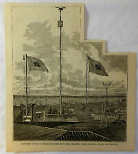 1878 magazine engraving~ US ARMY SIGNAL CORPS station at Equitable Building, NYC