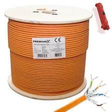 PremiumX CAT 7 Netzwerkkabel LAN Kabel Ethernet Datenkabel Verlegekabel 500m