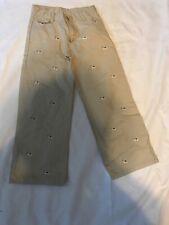 Janie And Jack Boys Khaki Pants Size 6 Dogs Design
