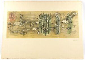 Lars Bo 1960 etching  RARE VI / X