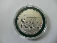 1 - 1 oz .999 Fine  Silver Round- Twas the Night Before Christmas-Green Capsule