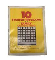 Booklet 10 Stater Programs Apple Atari Commodore 64 TI Vic-20 TRS-80 Timex
