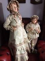 """Victorian style A DRESS & A HAT For Antique French or German HUGE  36"""" doll"""