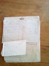 facture agence A.B.C + devis pour trousseau - angers - 1932 et 1933