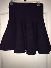 NEW WT Stella Luce Women's Junior Large Stretch Black Flair Skirt W/ Zipper