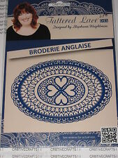 "TATTERED LACE DIE ""BRODERIE ANGLAISE"" TTLD870  OVAL/HEARTS CARDS OR SCRAPBOOKING"