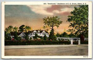 Rosebank, Residence of E. G. Grace, Aiken, SC - Postcard