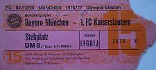 TICKET BL 1976/77 FC Bayern München - Kaiserslautern