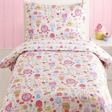 Cats Butterfly Bunny Pink White Junior Toddler Cot Duvet Cover Quilt Bedding Set