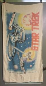 Vintage 1976 Star Trek Klingon Battle Cruiser USS Enterprise Beach Towel