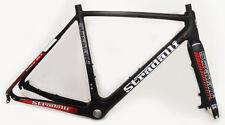 58CM L STRADALLI CARBON BICYCLE DISC BRAKE CYCLOCROSS GRAVEL BIKE FRAME RED