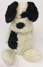 JELLYCAT JELLY CAT CREAM BLACK BASHFUL MEDIUM PUPPY DOG COMFORTER SOFT TOY (f2)