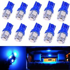 JDM ASTAR 10x T10 5050 SMD Blue 12V LED Interior Light Bulb 194 168 2825 175 W5W