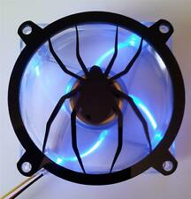 Custom 140mm SPIDER  Computer Fan Grill Gloss Black Acrylic Cooling Cover Mod