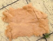 camel real genuine rabbit fur skin pelt hide fabric material art craft sewing