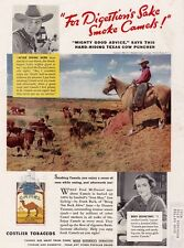 1937  Vintage ad Texas Cow Puncher Smokes Camel  Cigarettes Color!