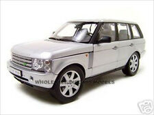 2003 RANGE ROVER SILVER 1:18 DIECAST MODEL CAR BY WELLY 12536