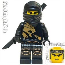 M128 Lego Ninjago Castle Custom Ninja Minifigure - Black - ( Cole H258L01 ) NEW