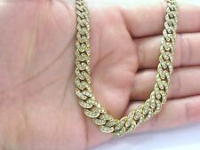 "Barducci SOLID 18Kt NATURAL Diamond Yellow Gold Chain Necklace 16.5"" 5.26CT"