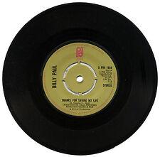 """BILLY PAUL """"merci pour sauver ma vie C/W je vois la lumière"""" années 70 Soul LISTEN!"""