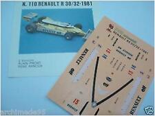 RENAULT R30-32 1981 PROST-ARNOUX  1/43 DECALS