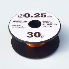 0.25 mm 30 AWG Gauge 30 gr ~65 m (1 oz) Coil Enameled Copper Magnet Wire